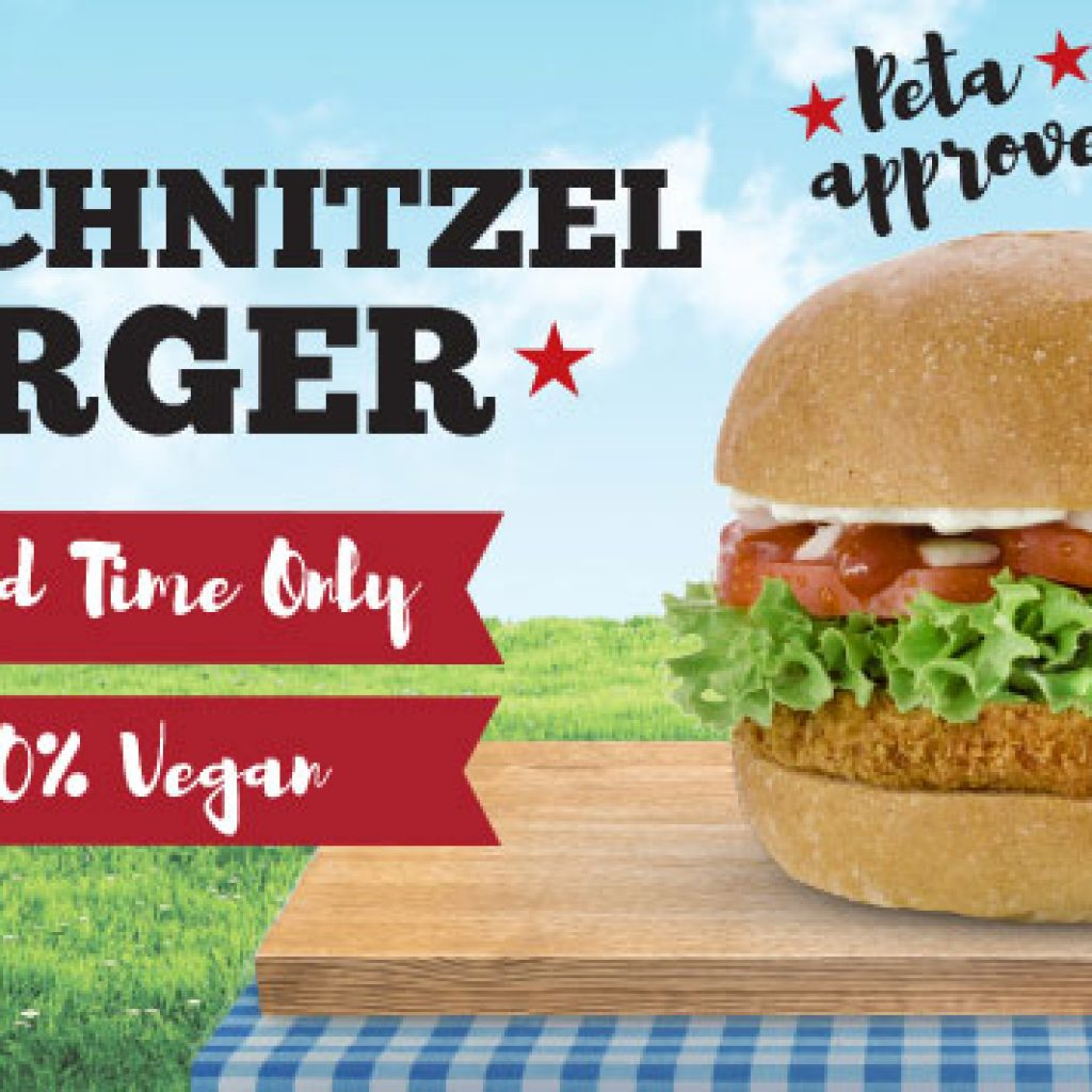 Das Schnitzel Burger for $9.95, limited time only